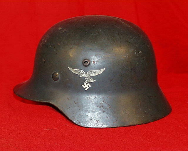 Dragon collector militaria casque lourd modle 1935 de la luftwaffe arme de lair allemande altavistaventures Choice Image